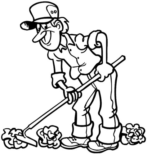 garden hoe coloring page farmer and garden coloring pages coloring pages