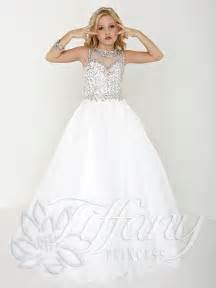teen white pageant gown tiffany princess kids pageant