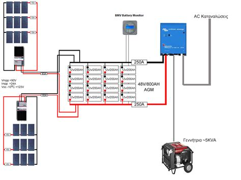 solar battery bank wiring diagram solar battery bank