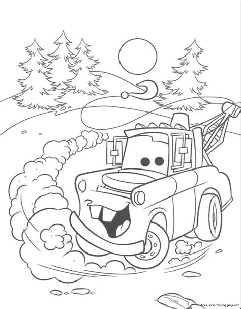 tow mater coloring pages to print coloring pages
