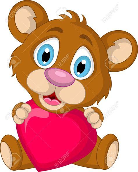 imagenes de amor dibujos animados 19791440 lindo marr n oso de dibujos animados con el amor