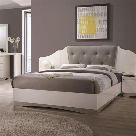 low profile queen bed coaster alessandro 205001q queen low profile bed with