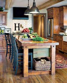 Table Island Kitchen 32 Simple Rustic Homemade Kitchen Islands