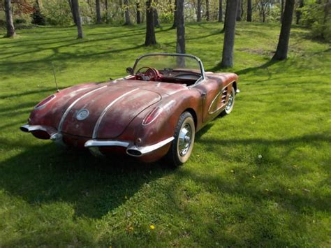 1958 chevrolet corvette project car for sale in united states
