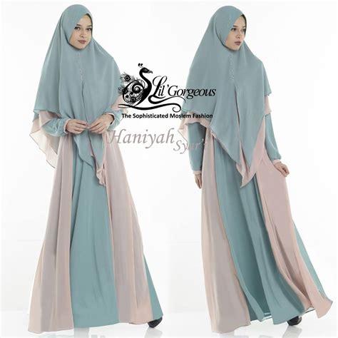 Gamis Lil Gorgeous Terbaru haniyah syar i baju muslim gamis modern