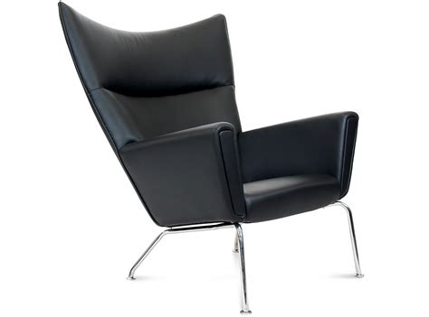 Hans Wegner Wing Chair by Ch445 Wing Chair By Hans Wegner Leather Platinum Replica