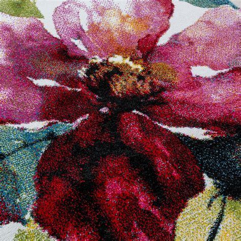 flower design rugs modern canvas design rug colourful flower pattern multi