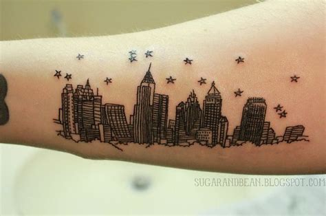 atlanta skyline tattoo designs atlanta skyline in the style of 500 days of summer
