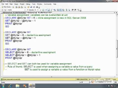 case transact sql how to declare and initialize variables in t sql part 2