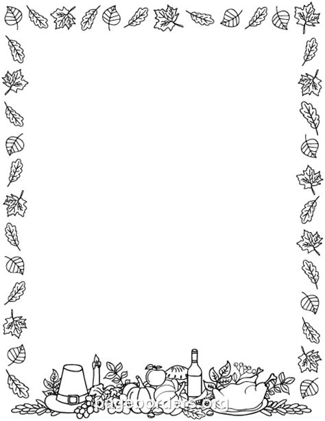 free printable thanksgiving lacing cards templates in black and white printable black and white thanksgiving border use the