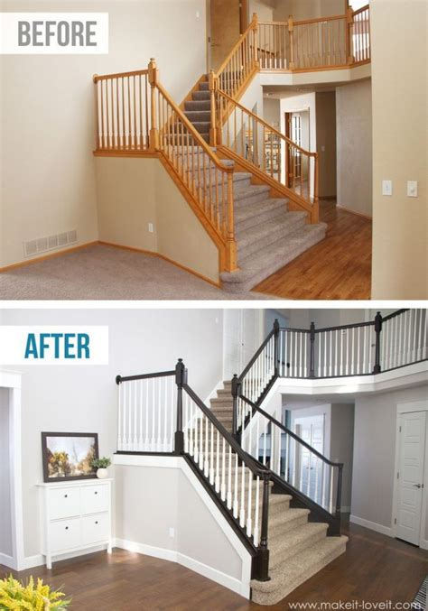 How To Paint A Stair Banister by Diy Stair Railing Projects Makeovers Decorating Your