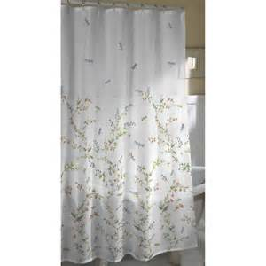 Dragonfly garden fabric shower curtain walmart com