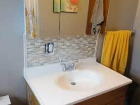 Bathroom sink backsplash ideas home design ideas
