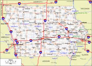 Map Of The State Of Iowa by All Cities In Iowa Printable Iowa Map With Cities Biz