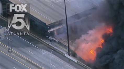 Fox Five Atlanta Giveaway - portion of i 85 in atlanta collapses due to massive fire reports say wztv