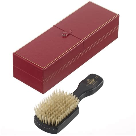 Handmade Hair Brushes - kent handmade mens white bristle hair brush in
