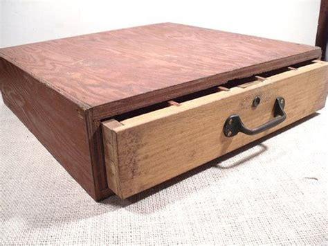 vintage wood drawer rustic box vintage
