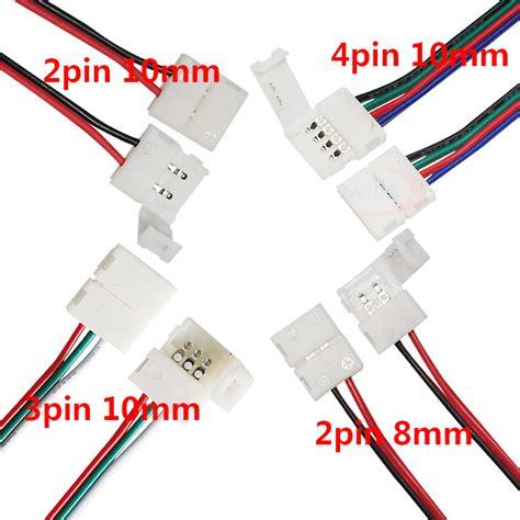 Pcb Konektor Connector Model L Led Single Colour 3528 2 Penjepit 5 10pcs 2pin 3pin 4pin 8mm 10mm led pcb adapter connector for 3528 5050 single color rgb led