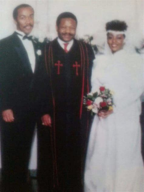 Walter Bridgforth and Anita Baker on their wedding day