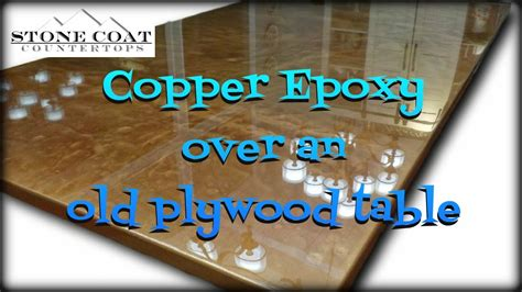 How To Make A Laminate Countertop - copper epoxy over an old plywood table youtube
