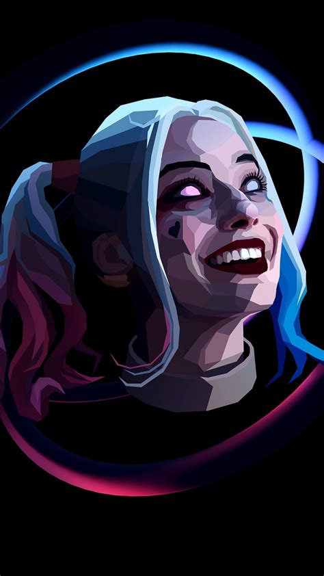 wallpaper harley quinn minimal artwork dark black hd