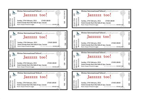 ticket template printable event ticket template free it resume cover letter sle