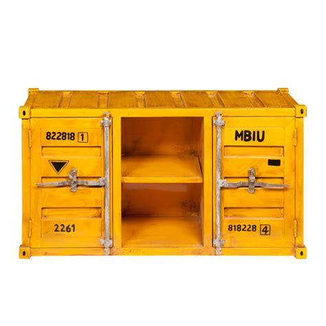 Meuble Container by Meuble Tv Container En M 233 Tal Jaune L 129 Cm Carlingue
