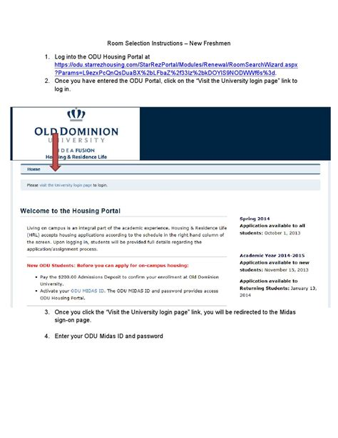 odu housing portal 2015 2016 freshman room selection instructions by odu housing issuu
