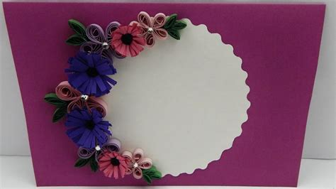 how to make card flowers how to make a greeting card with quilling flowers diy