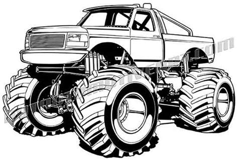 mud truck clip art ford f 150 monster truck vector clipart high quality