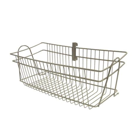 closetmaid baskets closetmaid shelftrack 8 in h x 20 in d nickel wire