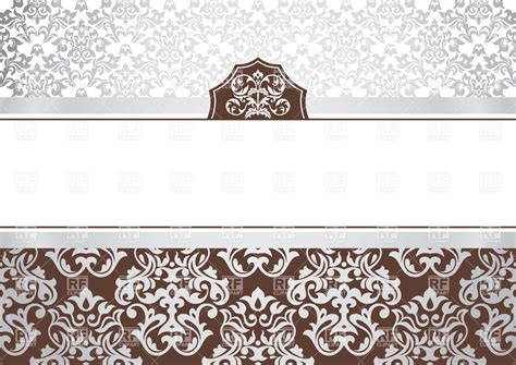 invitation card template with ornamental borders 37737