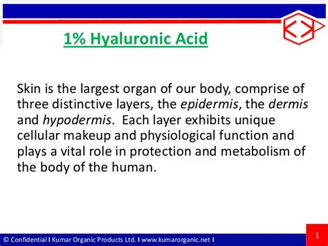1 Hyaluronic Acid Ppt Ppt Of Acid