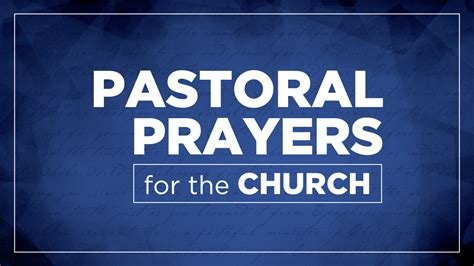 Pastoral Prayer - a fruitful the point community church