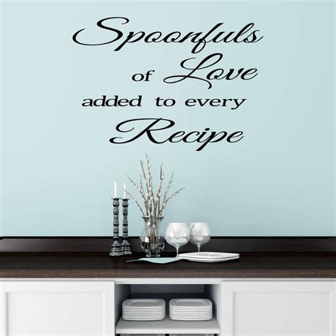 wall sticker for kitchen kitchen wall sticker quote by mirrorin