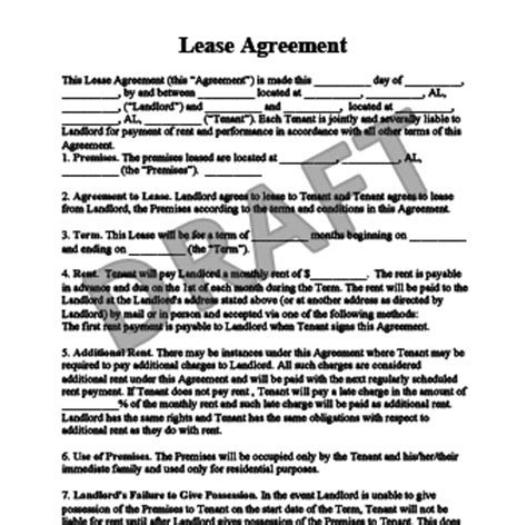 Rent Agreement Exles Beneficialholdings Info Nc Residential Rental Agreement Template