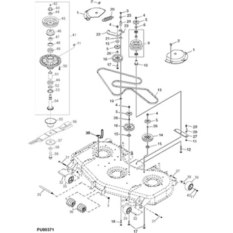 deere 757 deck diagram deere 110 parts diagram