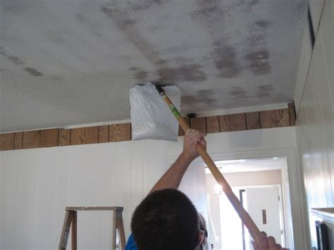 removing popcorn ceiling with water and vinegar remove popcorn ceiling diy