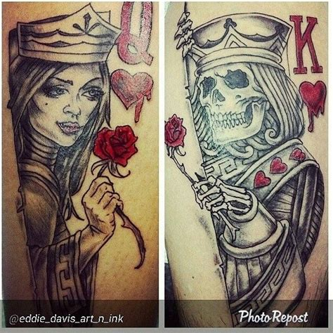 tattoo lisboa queen hearts king and queen of hearts tattoos sugar pinterest