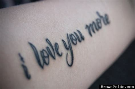 love you more tattoo 50 beautiful i you tattoos