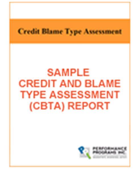 Credit Assessment Report Sle Assessment Credit And Blame Self Assessment Credit And Blame At Work By Ben Dattner