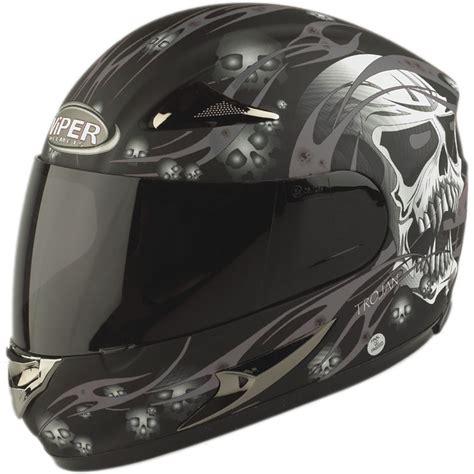 Motorradhelm Totenkopf by Viper Rs 44 Trojan Skull Fullface 4 Star Sharp Rated