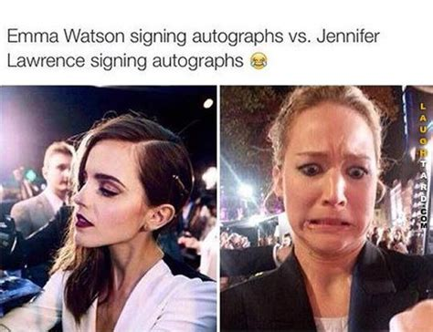 emma watson funny signing autographs funny pictures pinterest jennifer