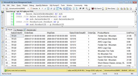Joining Tables In Sql by A Join A Day The Inner Join Sqlity Net