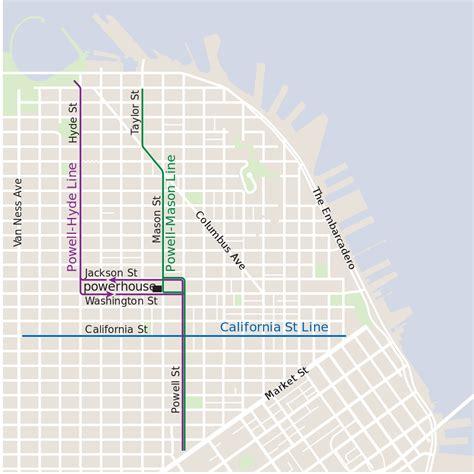 cable car san francisco map san francisco cable cars