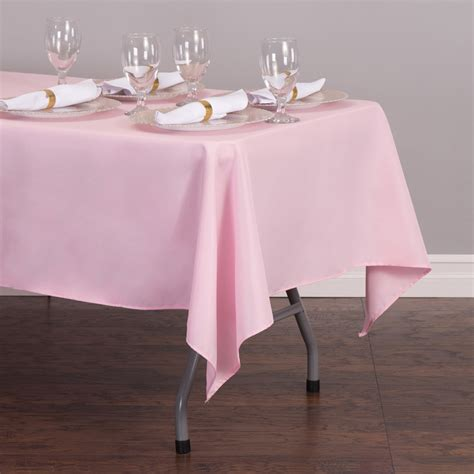 light pink 120 tablecloth 70 x 120 in rectangular polyester tablecloth royal blue