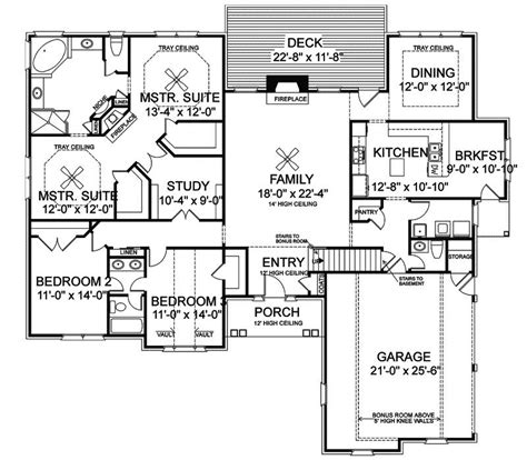 House Plans With Basements by Ranch Style House Plans With Basement Lovely House Plans