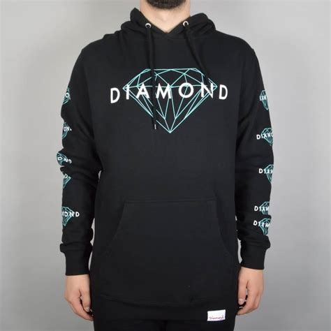 Hoodie Martin Garix Diamend Clothing supply co brilliant pullover hoodie black skate clothing from skate store uk