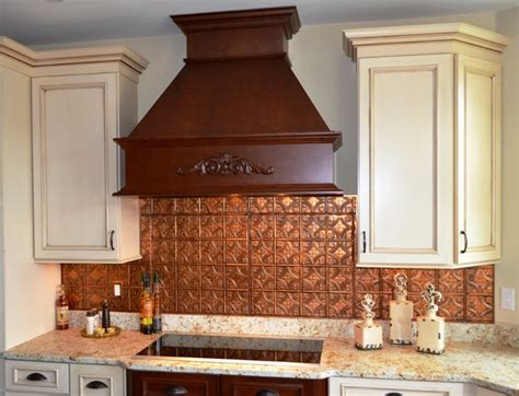 Copper Tiles For Kitchen Backsplash Copper Backsplash Kitchen Backsplashes Contemporary Kitchen Ta By American Tin Ceilings