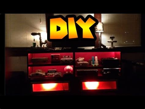 Gaming Desk Setup Ideas Diy Custom Entertainment Center To Hold Your Game
